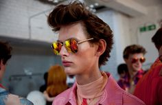 Katie Eary's SS15 London Collections show. All the sunglasses in the show were made by General Eyewear for Katie Eary. Photography by Amber Grace Dixon.