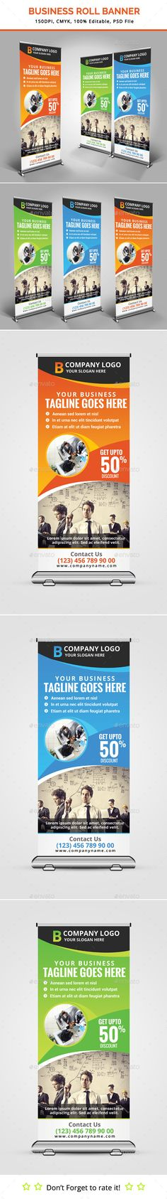 Business Roll Up Banner Template #design Download: http://graphicriver.net/item/business-roll-up-banner-v12/11884032?ref=ksioks