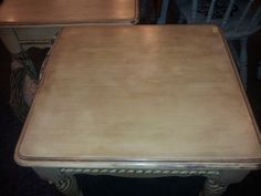2nd Table Top View Annie Sloan's Chalk Paint Country Grey w/ Dark Wax