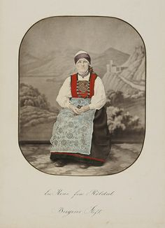 A married woman from Røldal. Bergen, Married Woman, Hand Coloring, Norway, Graphics, Pictures, Women, Photos, Graphic Design