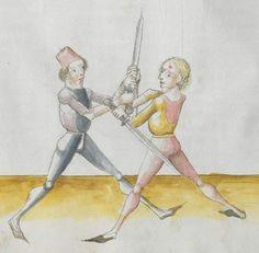 Lecküchner, Hans: Kunst des Messerfechtens Nordbayern, 1482 Cgm 582 Folio 358