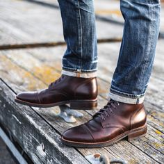 Great photo by @whaleysworld of some awesome looking Thursday Boots Follow @runnineverlong on Instagram for more inspiration #boots #thursdayboots #menswear