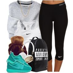 A fashion look from April 2014 featuring NIKE activewear pants, NIKE and Urban Junk backpacks. Browse and shop related looks.