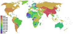 The highest point in each country