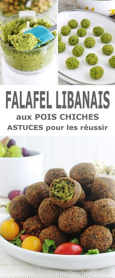Lebanese falafel recipe based on chickpeas mixed with onion, garlic, spices and herbs. This homemade version is better than the commercial one! Easy and quick to make, falafels are gluten-free. It is also a vegetarian and vegan recipe. Brunch Appetizers, Brunch Recipes, Appetizer Recipes, Breakfast Recipes, Dessert Recipes, Lebanese Falafel Recipe, Falafels, Veggie Recipes, Gastronomia