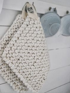 Knitted Linen potholder
