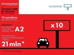 Działania outdoorowe dla Klienta Double Tree by Hilton w Łodzi zrealizowane przez #mconnection