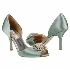 Badgley Mischka Lacie --green seafoam wedding shoes Beautiful Shoes,  Beautiful Handbags, Pretty 8f69a814ab