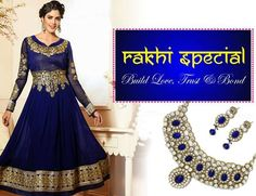 Update your closet on this occasion of RakshaBandhan with FLAT 15% Off on all Suits & Sarees at Royal Life Style