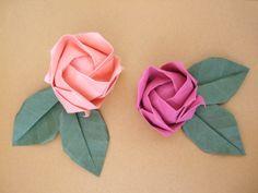 DIY origami rose