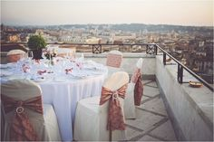 Rome Wedding photographed at the exclusive Hassler Hotel's Rooftop. The Hassler offers one of the most stunning views of Rome as it is situated at Trinita dei Monti. Wedding Locations, Wedding Venues, Wedding Reception, Destination Wedding, Wedding Planner, Rome City Centre, Sister Wedding, Dream Wedding, Rooftop Wedding