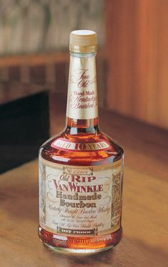"""Old Rip Van Wrinkle Bourbon. Their motto: """"We make fine bourbon. At a profit if we can. At a loss if we must. But always fine bourbon."""""""