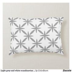 Light grey and white scandinavian trellis pattern accent pillow Soft Pillows, Accent Pillows, Throw Pillows, Grey Home Decor, Trellis Pattern, Grey Cushions, Grey And White, Soft Fabrics, Scandinavian