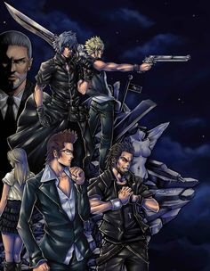 Final Fantasy XV cast. Still waiting for more information about this game...and hoping Stella is a playable character.