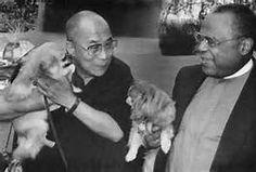 .His Holiness Dali Lama and Pekingese
