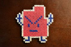 Check out this sweet ETSY find!! lol cracks me up!  Read the description of the product 'cause it's even funnier!!         Mooninite Err Magnet  Pixel Bead Art  FREE SHIPPING by PixelNerds, $7.00