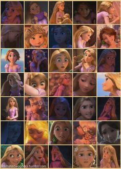 The many faces of Rapunzel