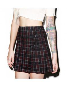 Current Mood Sinner Plaid Skirt   Dolls Kill