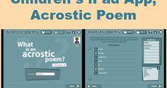The Book Chook: Children's iPad App, Acrostic Poem