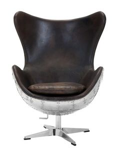 Torrington Leather Swivel Chair by Safavieh Couture at Gilt
