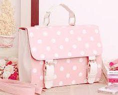 Polka dot cute girlish style bag