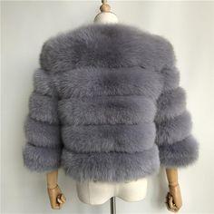 Luxurious 100% Genuine Thick Fox Fur Jacket Fox Fur Jacket, Desi, Fur Coat, Female, Elegant, Luxury, Lady, Casual, Leather