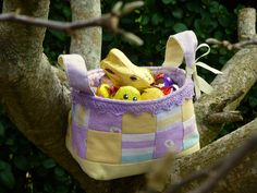 Mini Easter Baskets Tutorial (& more)! - Just Jude Designs - Quilting, Patchwork & Sewing patterns and classes Sewing Baskets, Easter Baskets, Sewing Crafts, Sewing Patterns, Reusable Tote Bags, Crafty, Quilts, Mini, Design