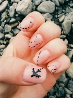 Airplane pattern nails perfect for a wanderlust.