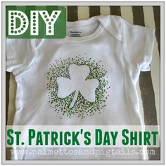 All you need is some freezer paper and markers! DIY St. Patrick's Day T-Shirt Tutorial - Palmettos and Pigtails