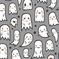 Ghosts and Stars Halloween Fabric. Fabric by the by JacksonsWovens