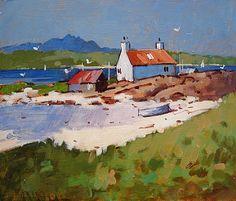 Scottish Artist James ORR-Towards the Cuillins