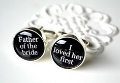 Sweet- Cufflinks for the Father of the Bride