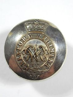Irish: Wexford Regiment of Militia original (George 1V) Large Officers Button.