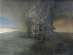 PETER GRIC   Burning Tower   Brennender Turm