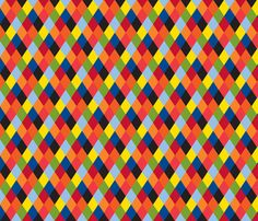 Harlequin fabric by kfay on Spoonflower - custom fabric Harlequin Fabrics, Upholstery Fabric For Chairs, Patterns In Nature, Cool Fabric, Surface Pattern Design, Custom Fabric, Rainbow Colors, Wallpaper Backgrounds, Spoonflower