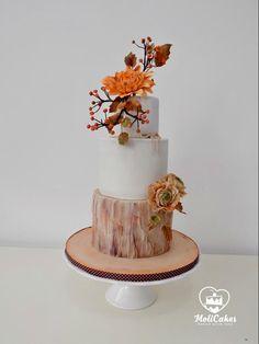 Autumn wedding cake by MOLI Cakes