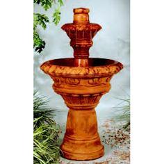 Valencia Two-Tiered Fountain, 3 PC Outdoor Fountains, Backyard, Patio, Valencia, Outdoor Decor, Home Decor, Homemade Home Decor, Yard, Yard