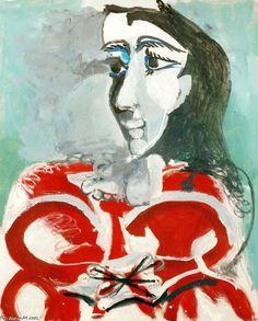 'retrato de Jacqueline 2', óleo de Pablo Picasso (1881-1973, Spain)