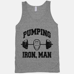 18 Fandom Muscle Shirts You Didn't Know You Needed - BuzzFeed pumping iron man marvel