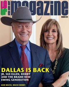 Larry Hagman & Linda Grey Dallas Stars. The Ewings are back!