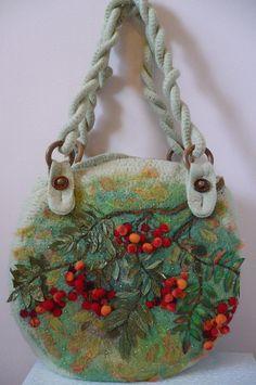 Felted embellished handbag - Natalia Kolesnikova