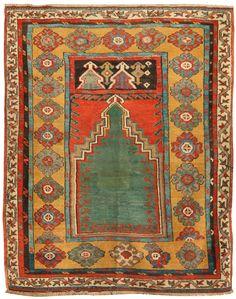 Antique 18th-century Mudjar Prayer Rug 5 X 6 - Fred Moheban Gallery