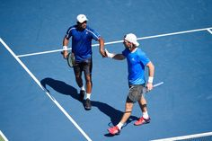 Doubles action on Day 5   September 2, 2016 - Leander Paes and Andre Begemann in action against Stephane Robert and Dudi Sela during the 2016 US Open at the USTA Billie Jean King National Tennis Center in Flushing, NY.