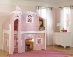 a playhouse and bed all in one! every little girl's dream!