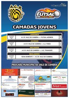 Futsal: camadas jovens ACR > 13 e 14 Dez 2014, 18h  #ValeDeCambra #VilaChaVLC #futsal