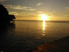 Sunset, at pef island - Rajaampat - Indonesia