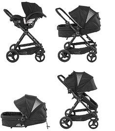 Contours Bliss 4-in-1 Stroller System - Black