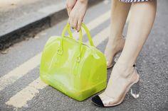 furla bag + chloe lucite captoes, shini park