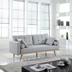 Mid-Century Modern Tufted Linen Fabric Sleeper Futon Sofa... https://www.amazon.com/dp/B01M0YJSIQ/ref=cm_sw_r_pi_dp_x_X.s9xb7JD65RD