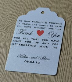 50 Personalized Shot Of Love Wedding Favor Tags Place Card Tags